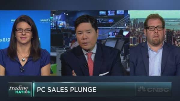 PC sales plunge
