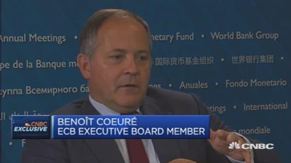 The Eurozone is recovering: ECB's Benoît Cœuré