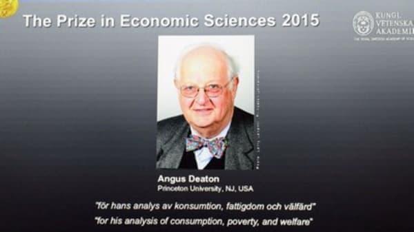 2015 Nobel Prize for Economics goes to Angus Deaton