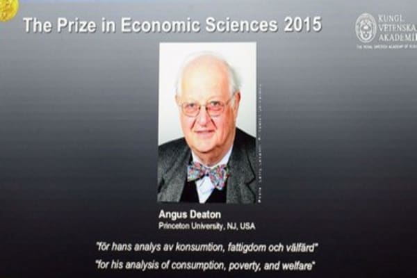 2015 Nobel Prize for Economics goes to Angus Deaton
