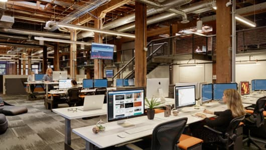 Weebly's headquarters in San Francisco