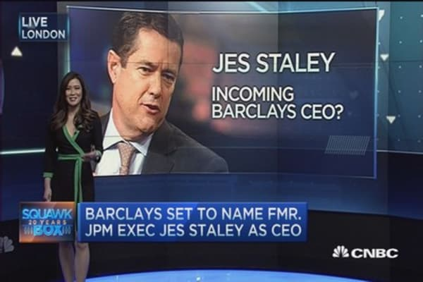 Barclays to name Jess Staley CEO