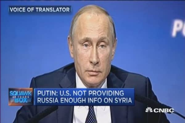 Putin: US not providing Russia enough info on Syria