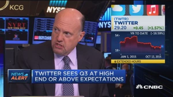 Cramer: Twitter should go higher