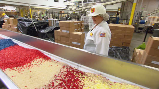 Jelly Belly President and CEO Lisa Rowland Brasher at work at Jelly Belly Headquarters in Fairfield, CA.