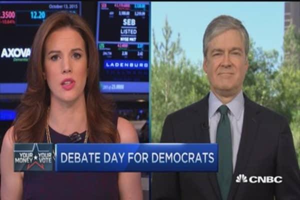 Democrats' debate day