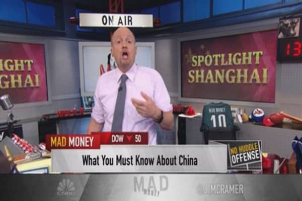 Cramer: China's horrific numbers are a good thing