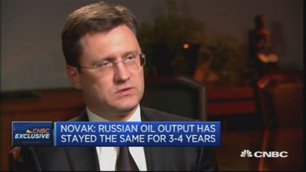 Russian oil output has not changed for 3-4 years, claims energy minister