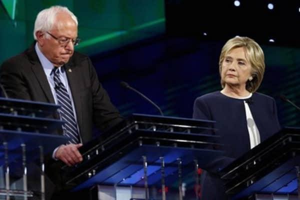 Hillary Clinton and Bernie Sanders spar in Las Vegas