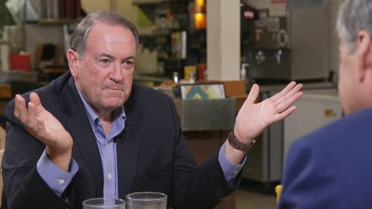 Mike Huckabee speaks with CNBC's John Harwoord.