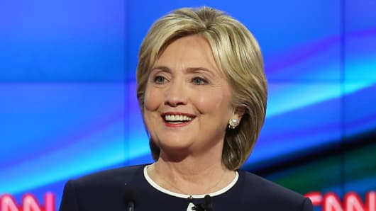 Hillary Clinton at the presidential debate on October 13, 2015 in Las Vegas.