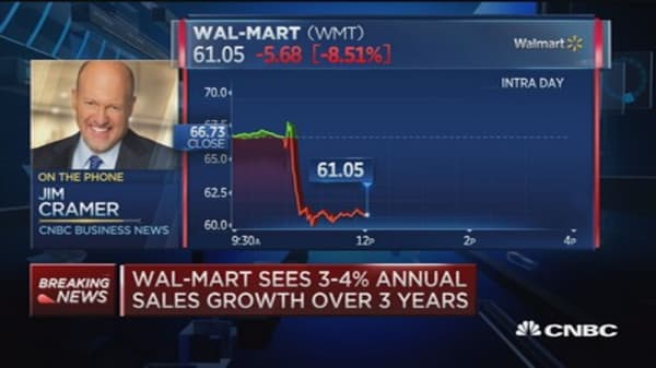 Cramer: Wal-Mart employee strategy abysmal failure
