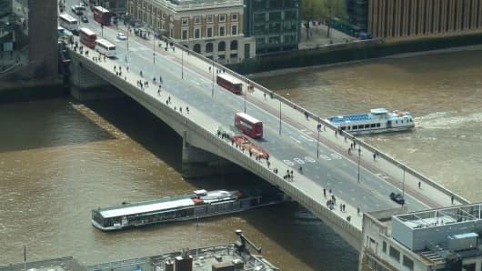 A file photo of the London Bridge in London.