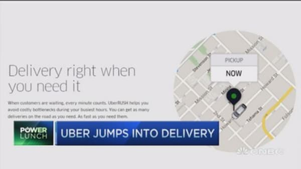 Uber jumps into delivery