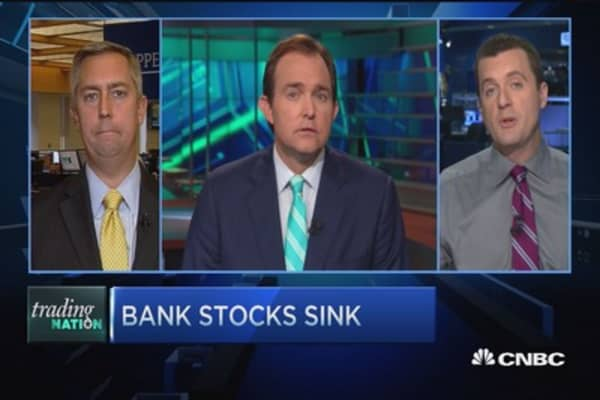 Trading Nation: Bank stocks down