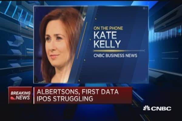 Albertsons & First Data IPOs struggling