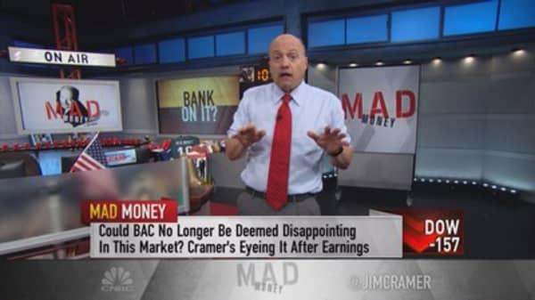 Cramer ranks the big banks