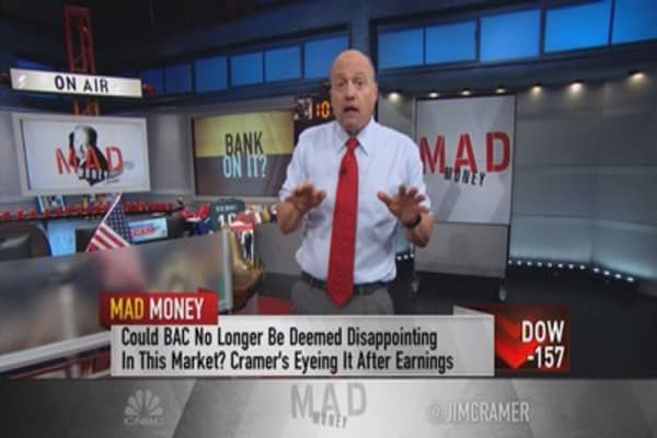 Cramer ranks the big banks