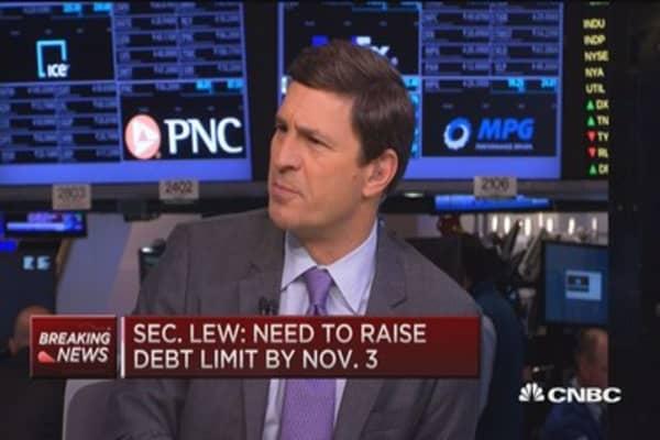 Sec. Lew: Need to raise debt limit by Nov. 3