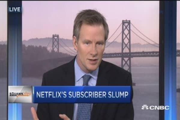 Netflix slides after subscriber slump