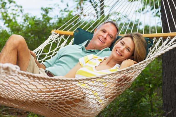 Couple in hammock early retirement