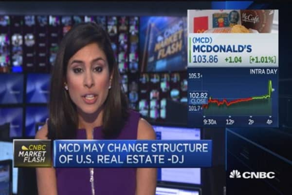 McDonald's changing its real estate structure?