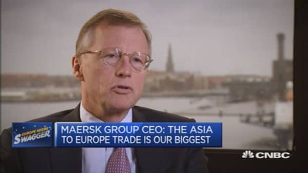 Asia to Europe is our biggest trade: Maersk CEO