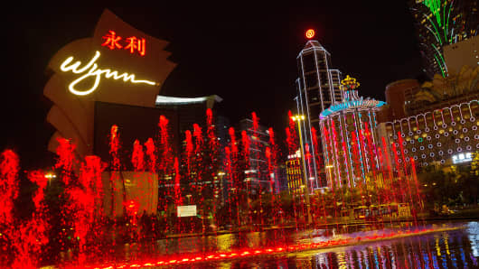 Wynn Macau casino resort in Macau, China.