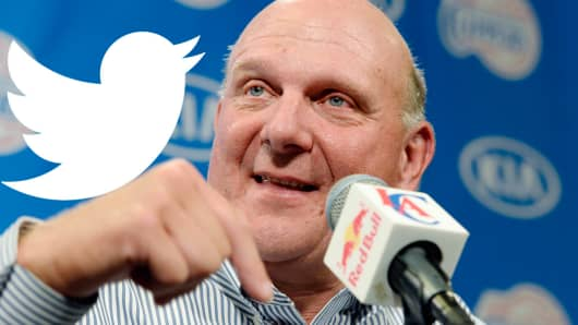 Steve Ballmer is rumored to have bought a 4 percent stake in Twitter.
