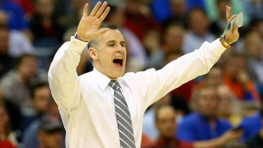Billy Donovan, as head coach of the Florida Gators