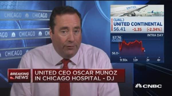 United CEO suffers heart attack: DJ