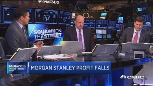 Morgan Stanley's Q3 profits fell 42%