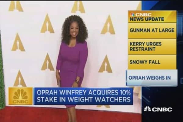 CNBC update: Oprah takes 10% stake in Weight Watchers
