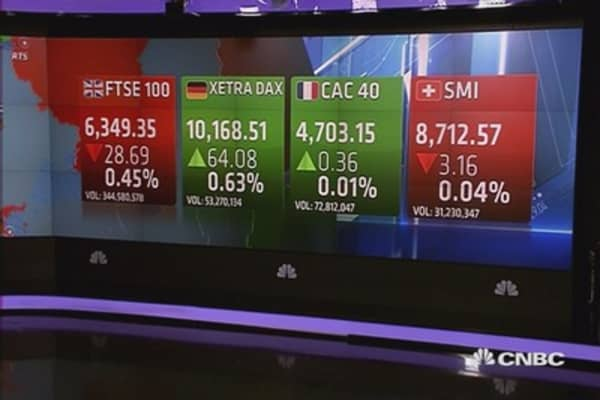 Europe ends mixed as China GDP cools; oil tumbles