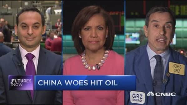 Futures Now: China woes hit oil