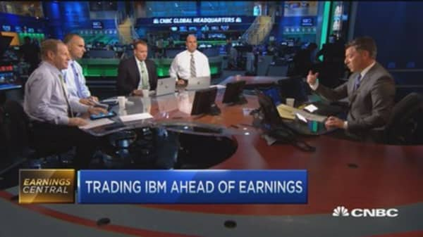 Top trades for the 2nd half: IBM, HOG & earnings