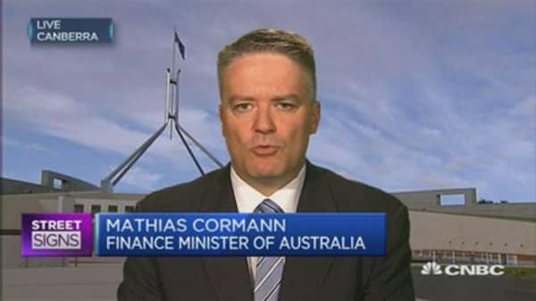 Australia FinMin on hiking banks' capital levels