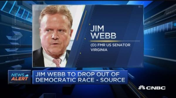 Jim Webb to drop out of Democratic race: Source