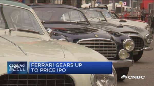 Ferrari Ipo Prices At 52share Within Range