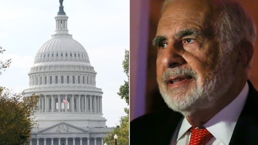 Carl Icahn, after years of battling companies, is now taking on Congress.