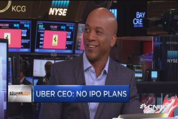 Uber CEO: No IPO plans