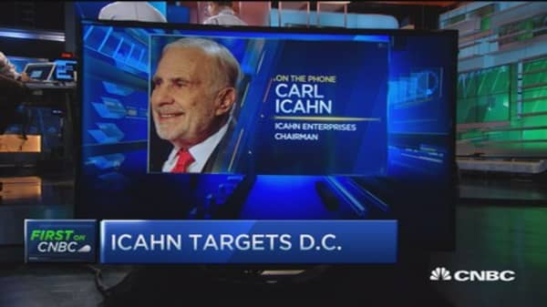 Icahn: Guys like me should be involved in the political arena
