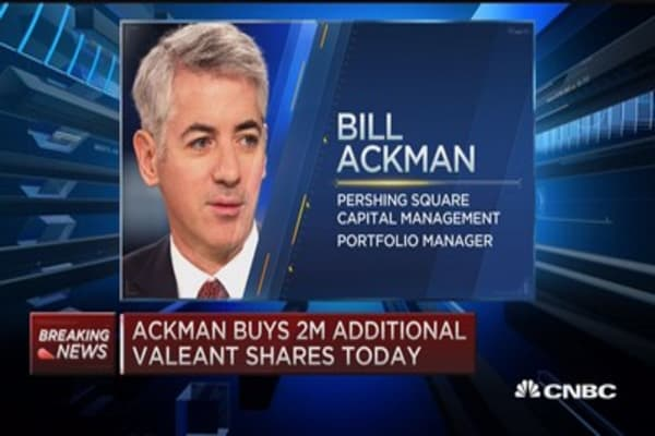 Ackman buys more Valeant
