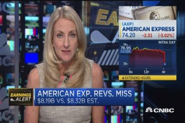American Express misses revenue number