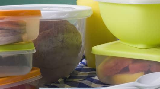 Stacks of tupperware