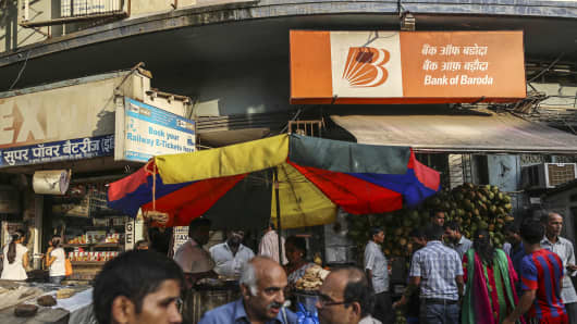 A branch of Bank of Baroda in Mumbai