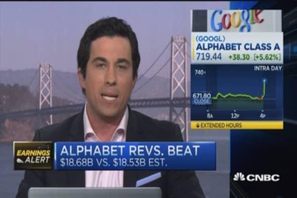 Google parent Alphabet beats earnings estimates
