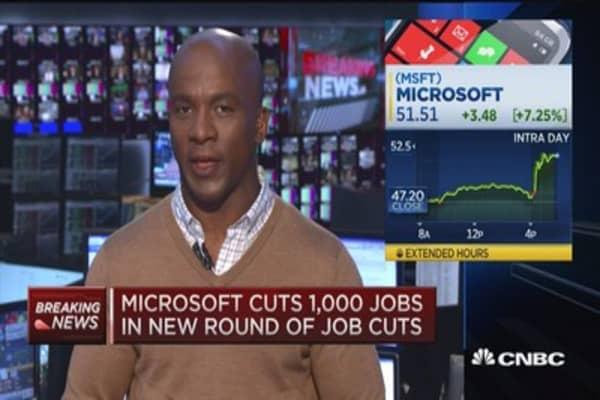 Microsoft cuts 1,000 jobs
