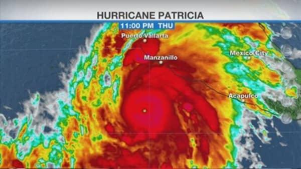 Hurrican Patricia intensifies