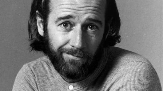"Comedian George Carlin is shown in a 1975 promotional photo for NBC's ""Saturday Night Live."""